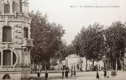 Sans le marché et la maison de la Lune, caractéristique de l'Art Nouveau. © Epernay Patrimoine