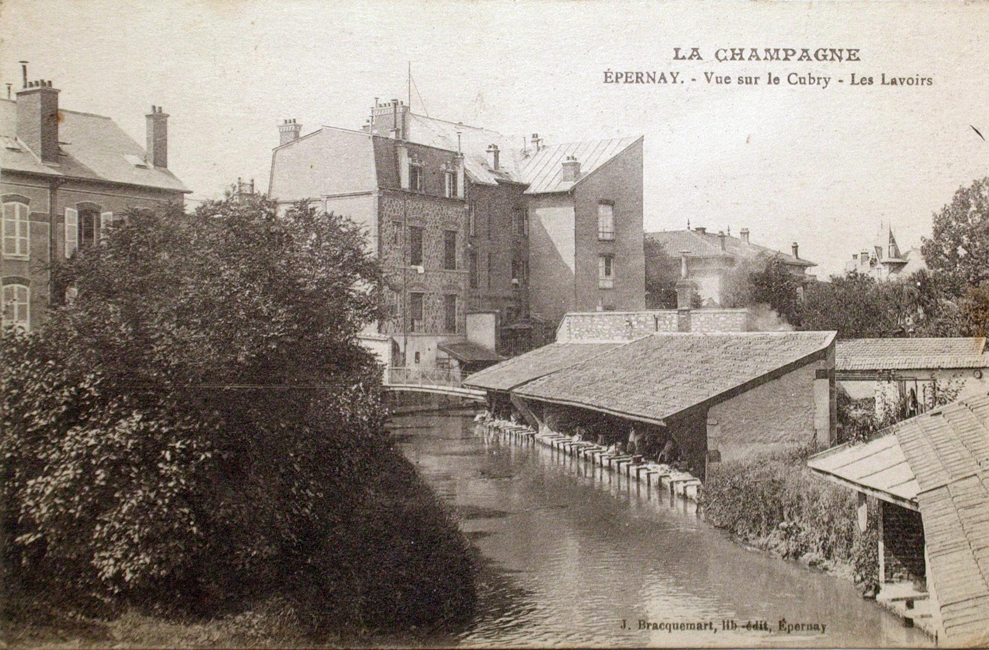 Les lavoirs sur le Cubry à Epernay